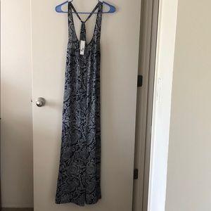 Theory Coruna Navy Paisley Maxi Dress